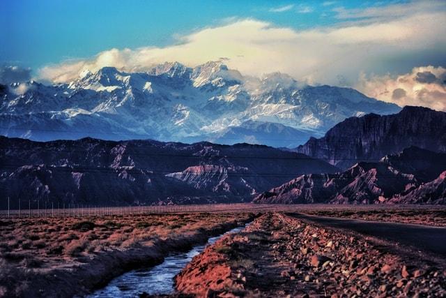 mountainous-landforms-mountain-sky-natural-landscape-mountain-range 图片素材