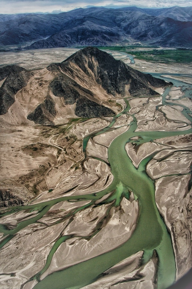 braided-river-geology-geological-phenomenon-aerial-photography-landscape 图片素材
