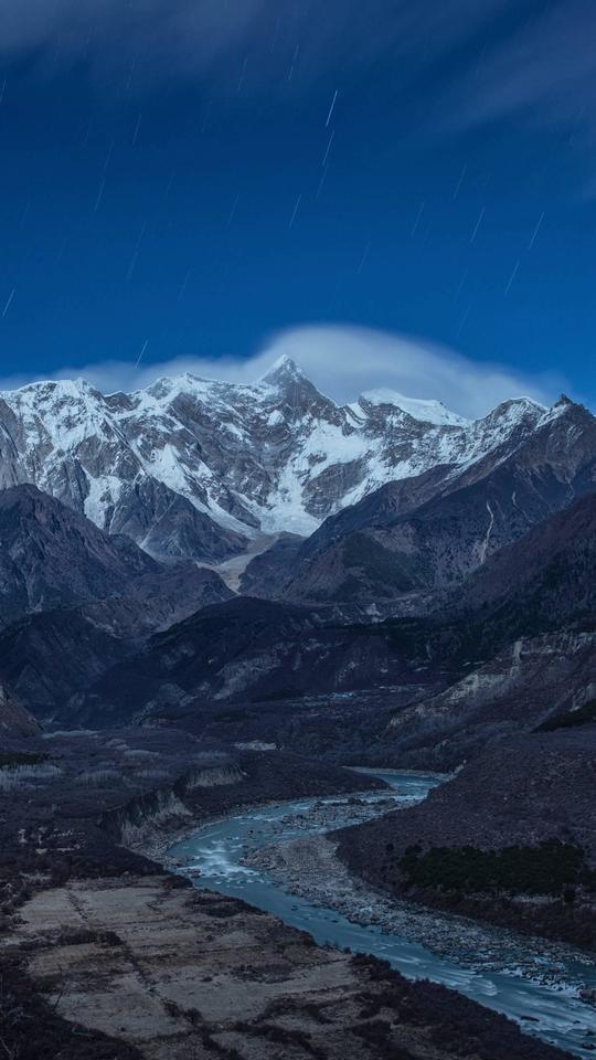 mountainous-landforms-mountain-mountain-range-sky-highland 图片素材