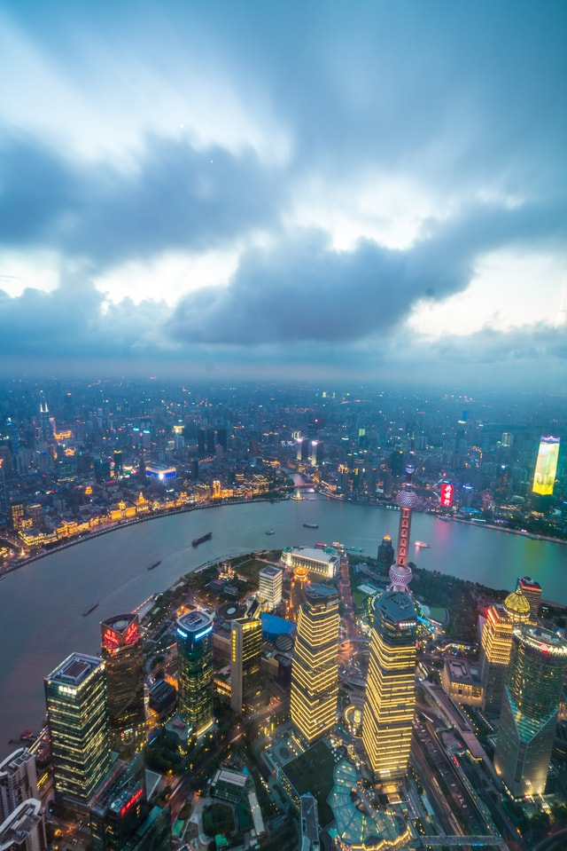 high-altitude-aerial-photography-lujiazui-scenery-overlooking-the-shanghai-lujiazui picture material