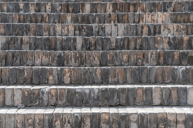 steps-paved-with-black-brick-in-ancient-china picture material