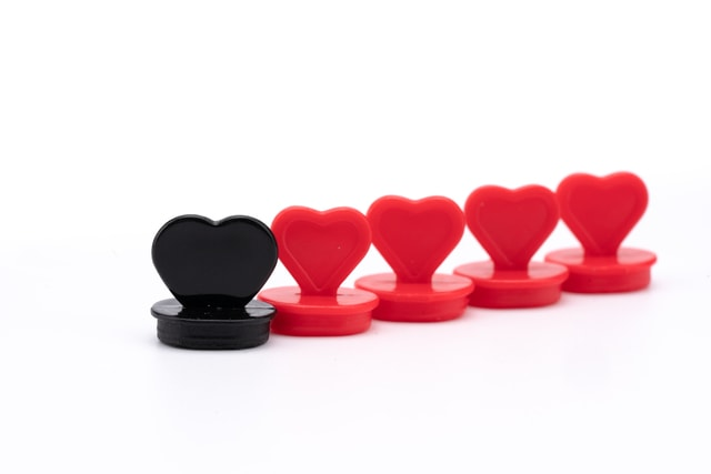 red-heart-and-black-heart-red-heart-and-black-heart picture material