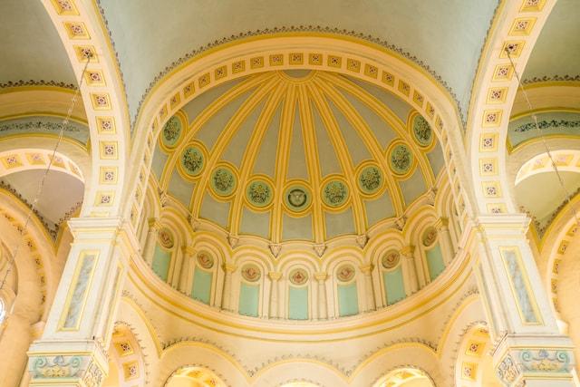 tianjin-west-kai-church-interior-dome-tianjin-west-opens-a-church 图片素材