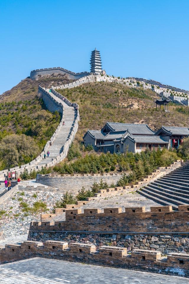 yanmen-pass-great-wall-yancheng-shanxi-china-shanxi-china picture material