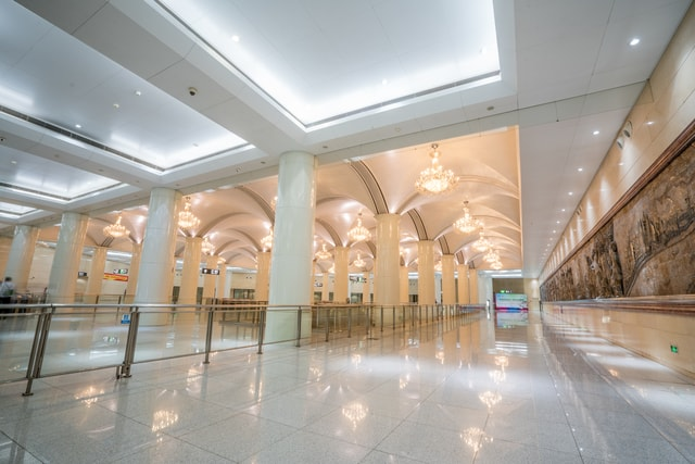 bright-indoor-view-in-tianjin-subway-bright-scenery-in-tianjin-metro picture material