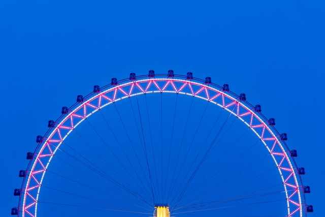 tianjin-eye-ferris-wheel-at-night 图片素材