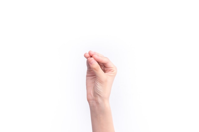 the-gesture-representing-the-number-seven picture material
