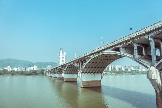 changsha-orange-zizhou-bridge-china 图片素材
