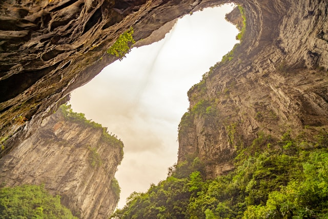 geological-wonders-of-the-tiankeng-rock picture material