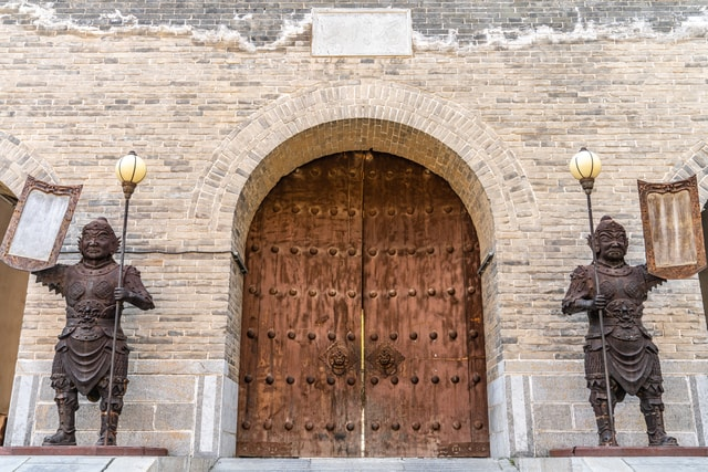yanmen-pass-great-wall-gate-shanxi-province-china picture material