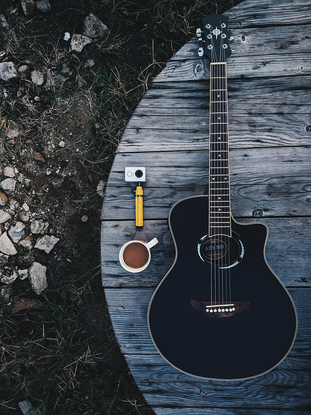 guitar-wood-instrument-music-sound picture material