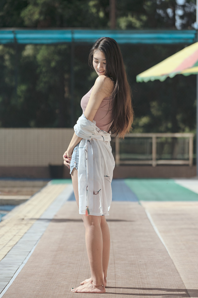 woman-summer-outdoors-girl-fashion picture material