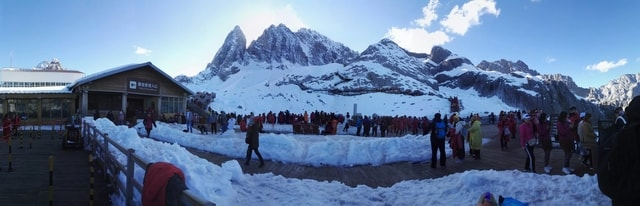 winter-mountain-snow-ice-panorama picture material