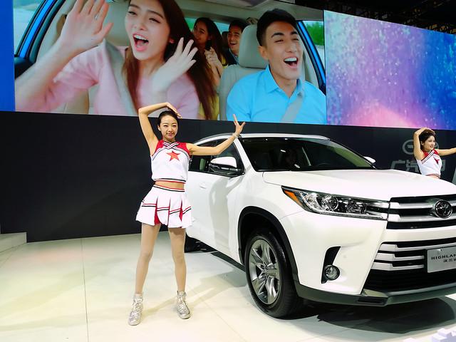 car-fashion-auto-show-public-show-woman picture material