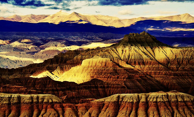 landscape-mountain-desert-sunset-nature picture material