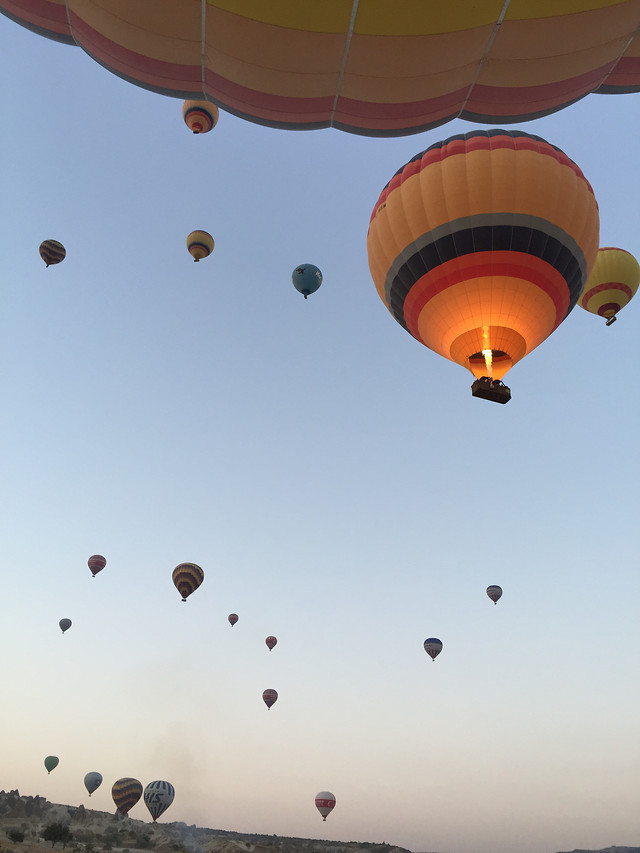 balloon-hot-air-balloon-flying-air-sky picture material