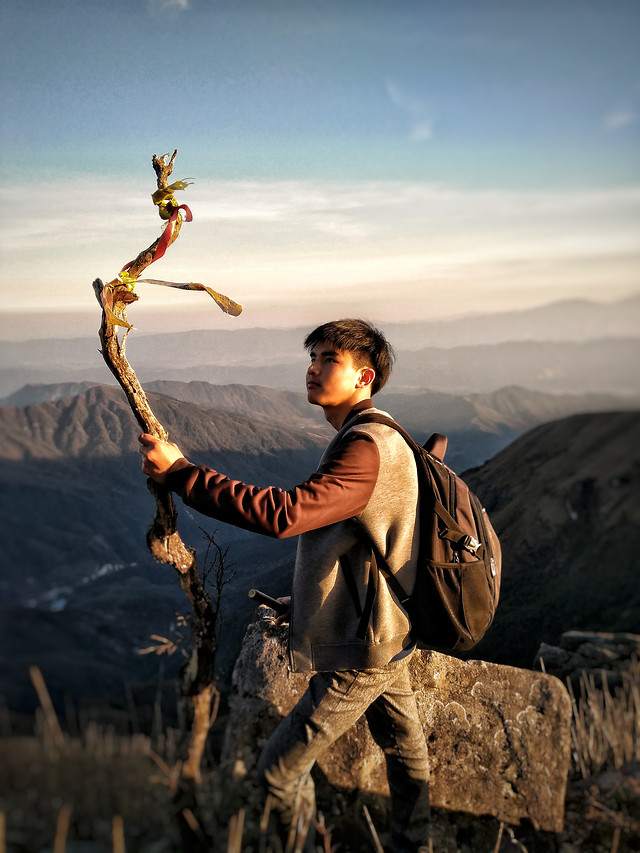 one-people-adventure-sunset-man picture material