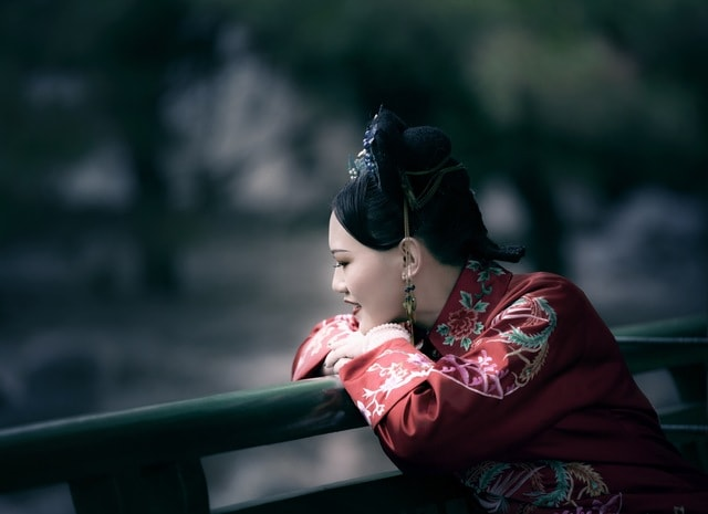 beauty-sky-geisha-photography-child picture material