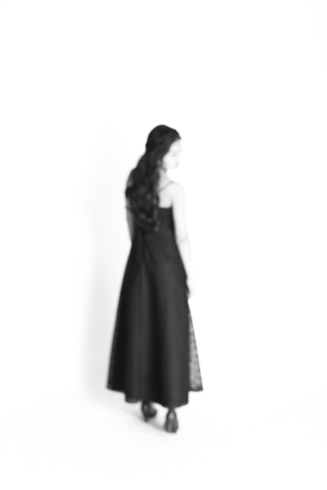 woman-dress-black-one-fashion picture material