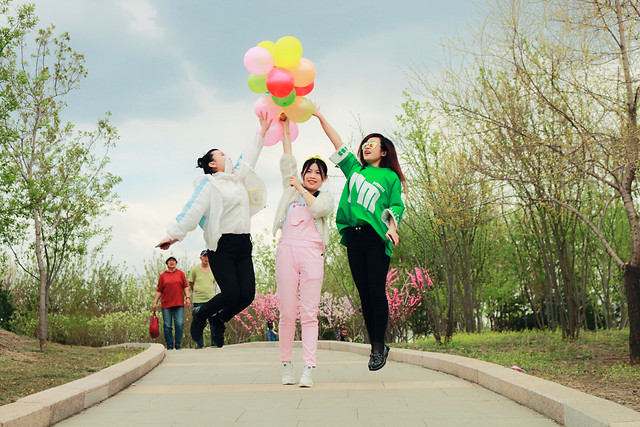 fun-people-pink-photograph-road picture material
