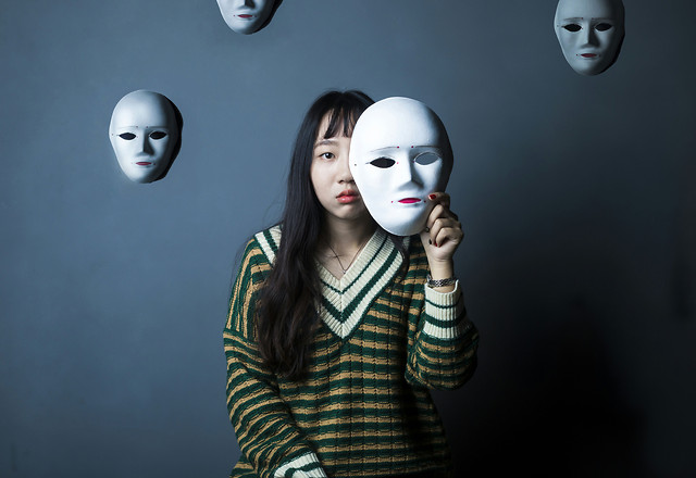 portrait-mask-girl-face-art picture material