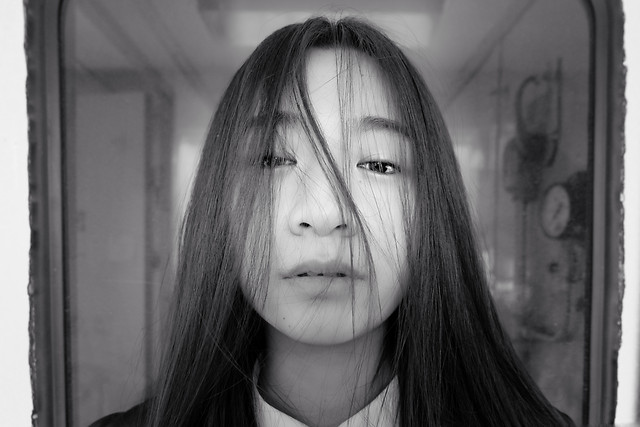portrait-girl-people-woman-monochrome picture material