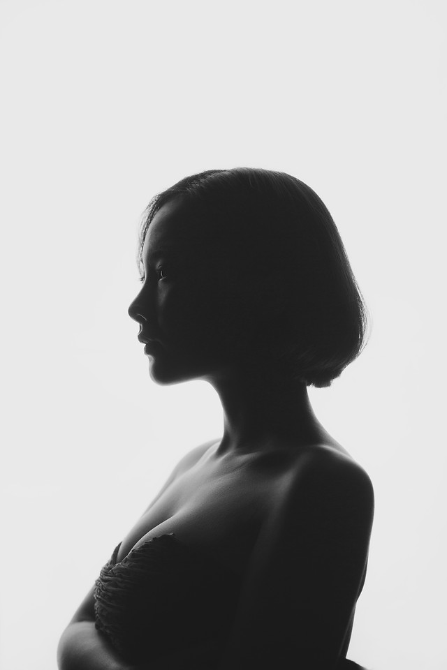 people-girl-portrait-silhouette-profile 图片素材