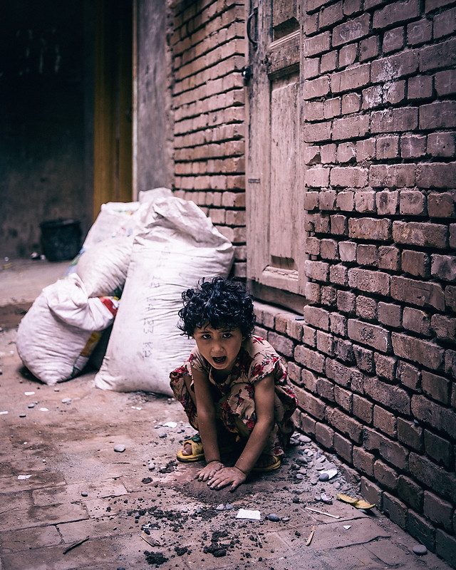child-people-street-portrait-family picture material