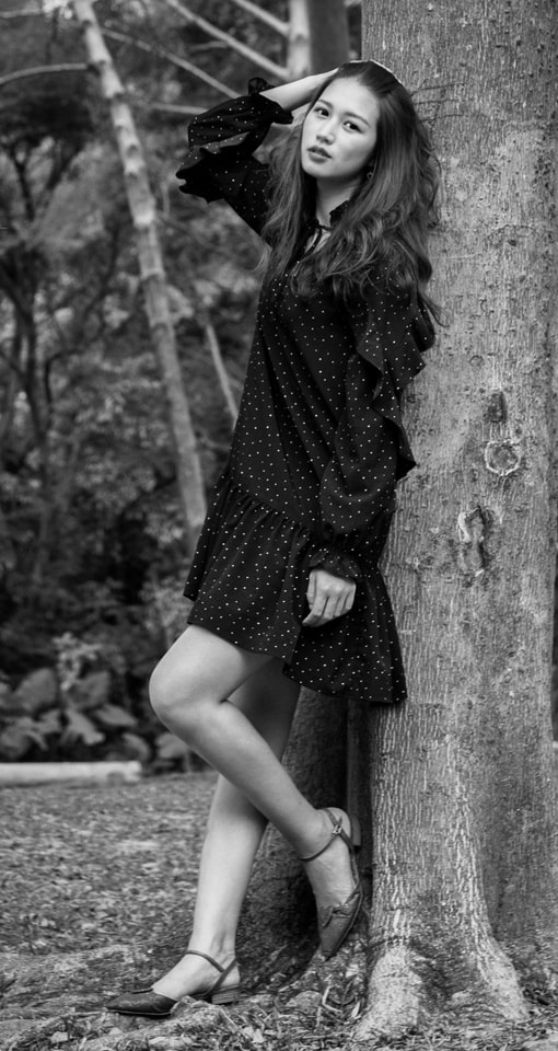 model-girl-black-and-white-fashion-dress picture material