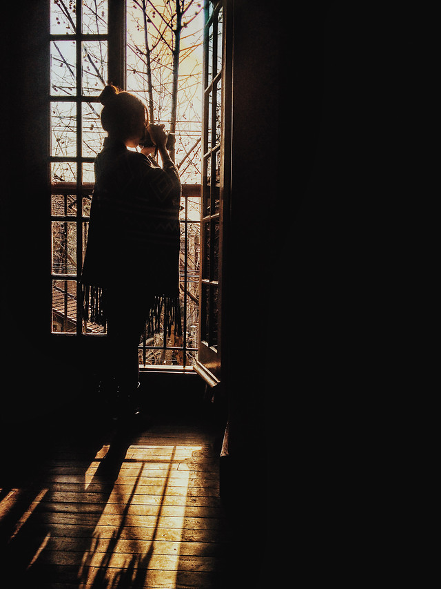 people-window-light-one-woman picture material