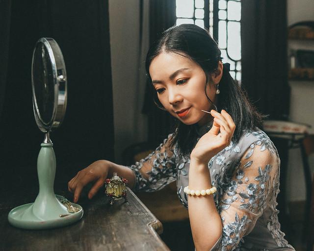 girl-republic-of-china-cheongsam-beauty-retro picture material