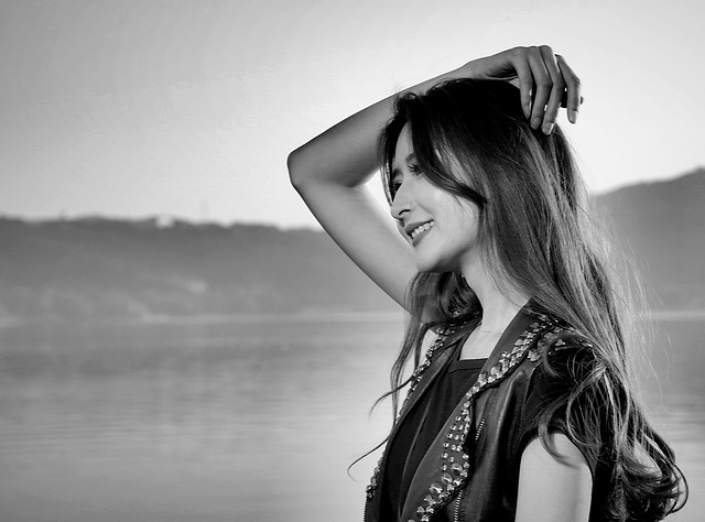 asia-portrait-black-and-white-photography-beauty 图片素材