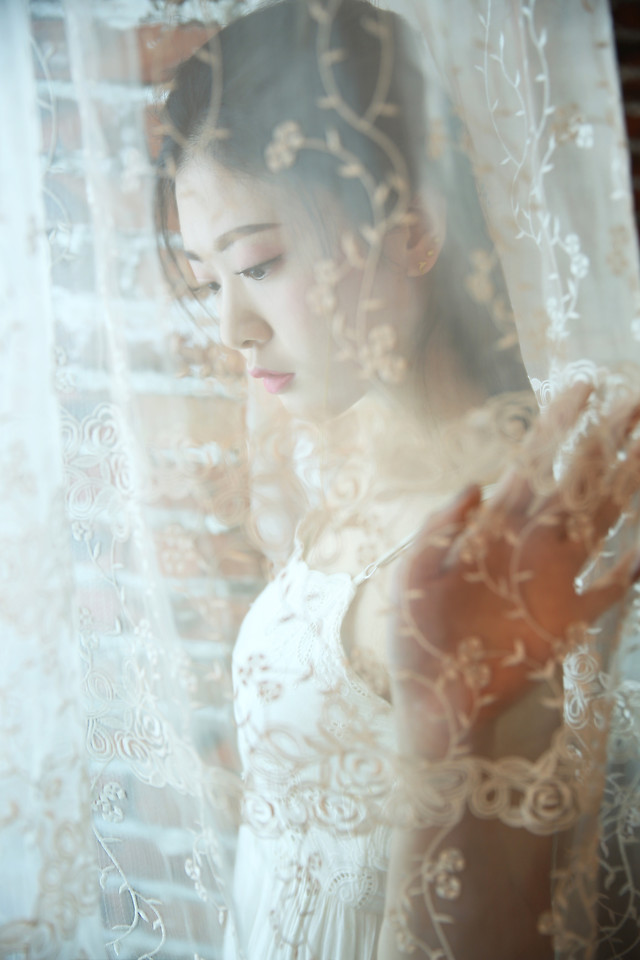 bride-wedding-veil-woman-gown picture material