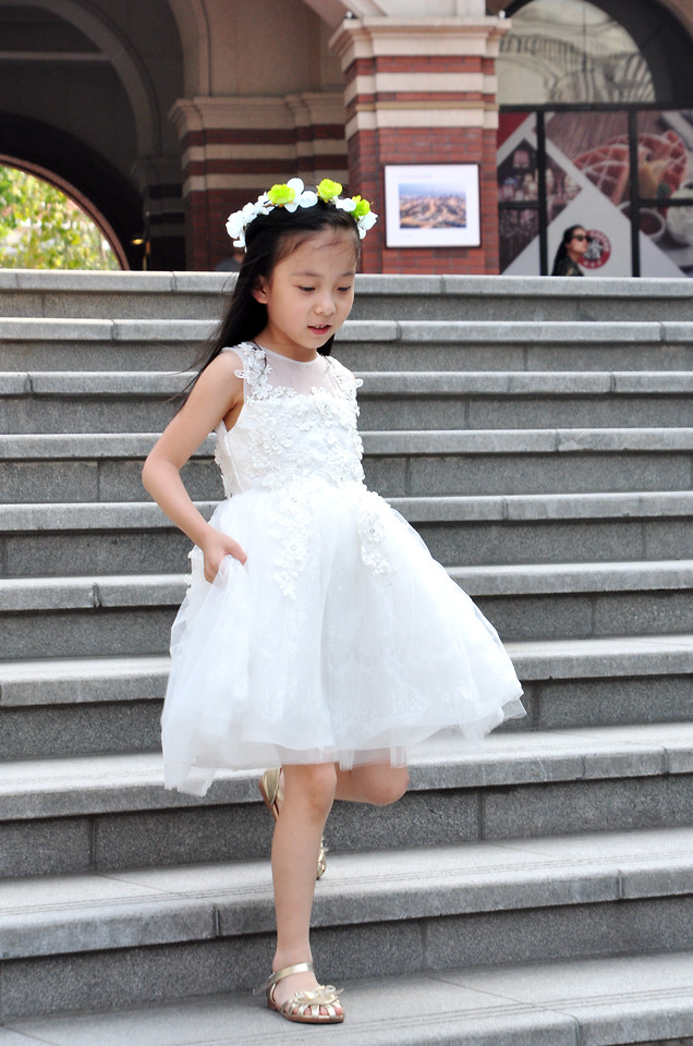 fashion-child-woman-wedding-dress-gown picture material