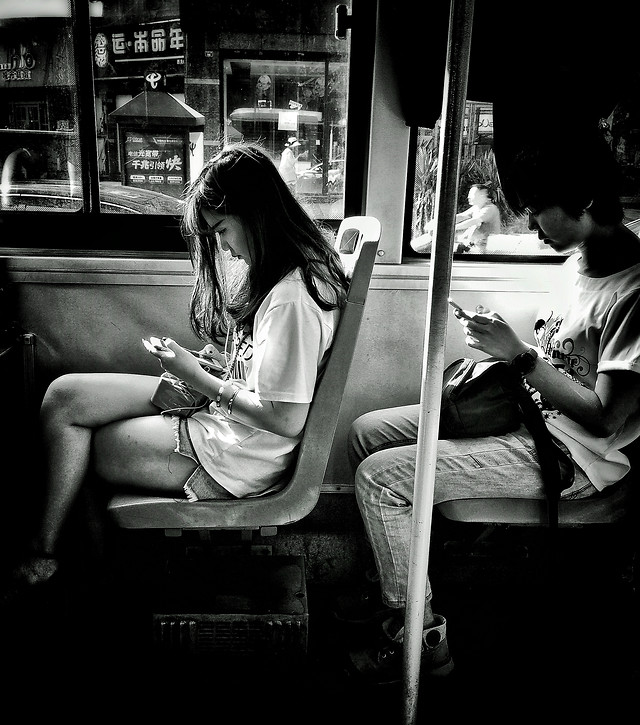 monochrome-people-street-woman-sit picture material