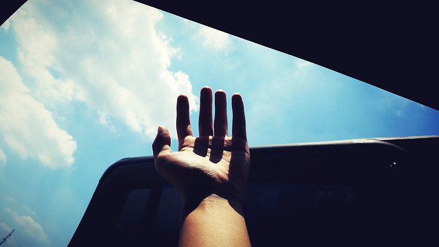 people-sky-man-hand-light picture material