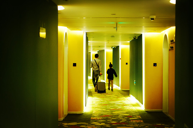 light-room-yellow-hallway-architecture picture material