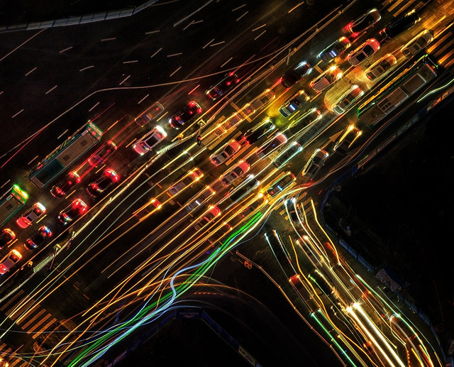 traffic-blur-motion-highway-road picture material