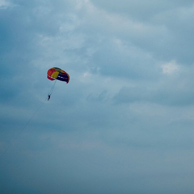 parachute-kite-flying-air-freedom picture material