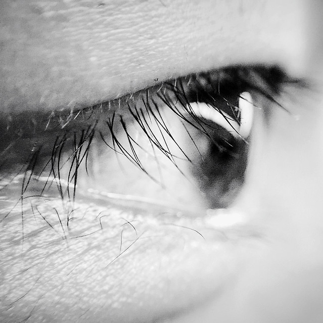 monochrome-eyelash-girl-woman-eyeball picture material