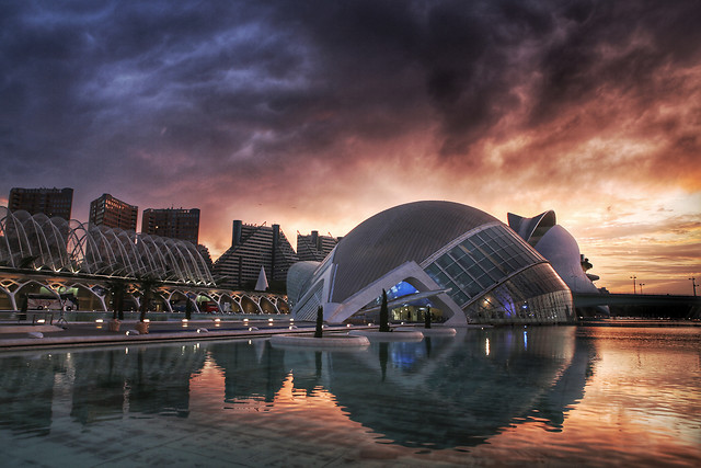 sunset-water-architecture-travel-city picture material