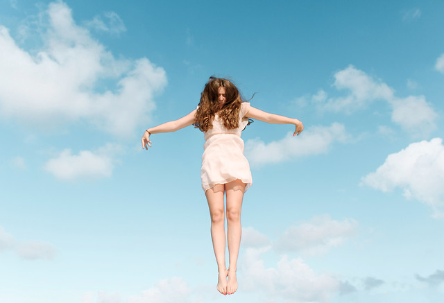 sky-woman-freedom-summer-cloud picture material