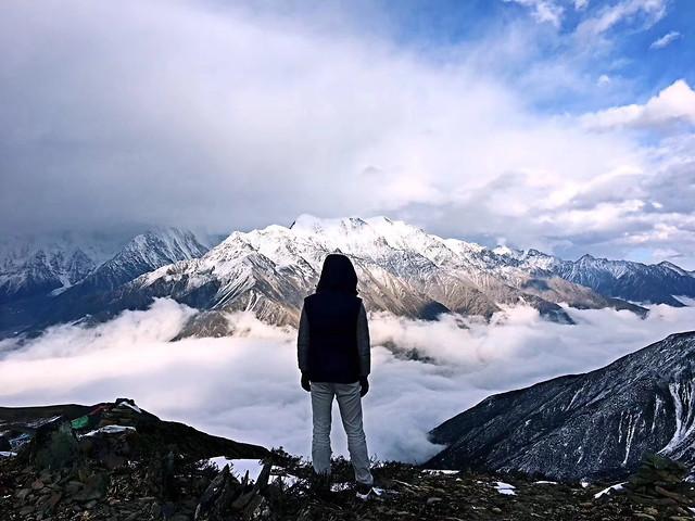 snow-mountain-winter-hike-climb 图片素材