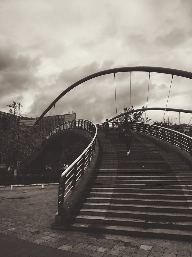 no-person-bridge-monochrome-street-sky picture material