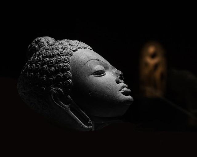 head-monochrome-sculpture-art-statue picture material