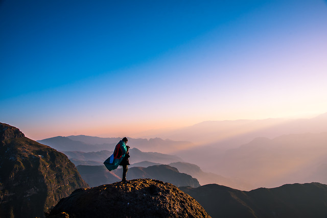 sky-mountain-dawn-adventure-rock picture material