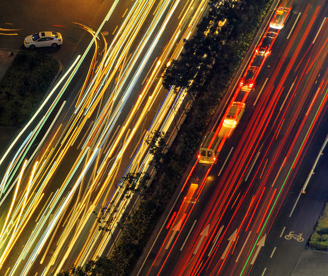 traffic-blur-motion-road-transportation-system picture material