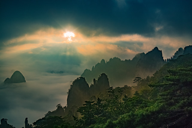 sky-nature-dawn-mountain-landscape picture material