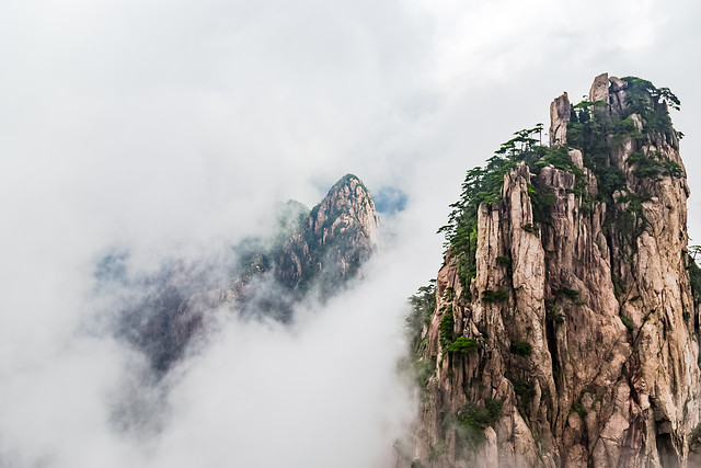mountain-sky-rock-tree-landscape picture material