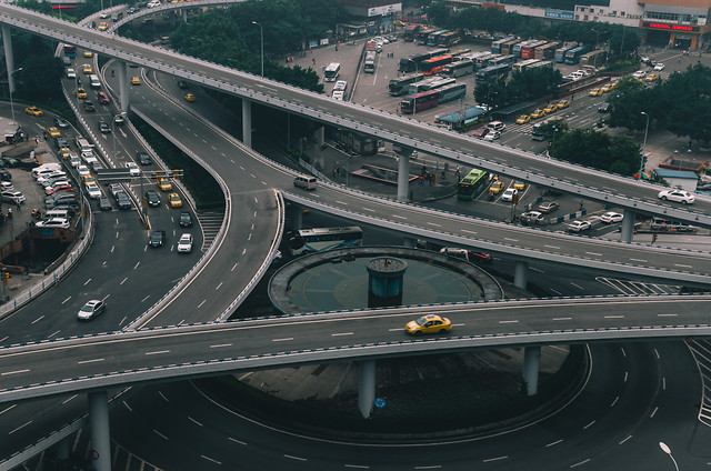 traffic-highway-transportation-system-road-expressway picture material